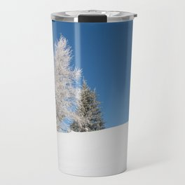 fir covered with snow Travel Mug
