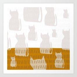 Coit Cat Pattern 4 Art Print