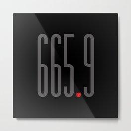665.9 Metal Print