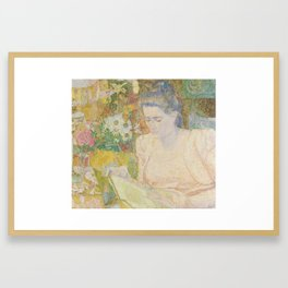 Portrait of Marie Jeanette de Lange, Jan Toorop, 1900 Framed Art Print
