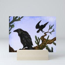 Hugin and Munin Mini Art Print