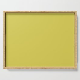 Abstract Solid Color Yellow Green Sheen Serving Tray