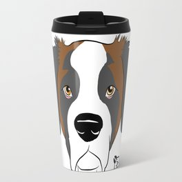 St Bernard Face Travel Mug