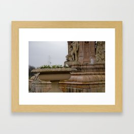 Fountain at People's Palace Framed Art Print