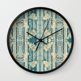 Lilacs & Phylox in Stripe By Danae Anastasiou Wall Clock