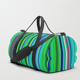 Colorful Barcode Duffle Bag