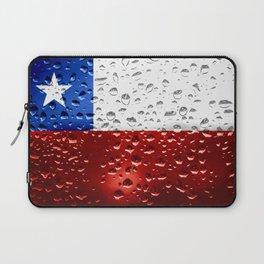 Flag of Chile - Raindrops Laptop Sleeve