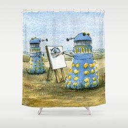Dalek Painting Shower Curtain