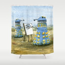 Dalek Painting Shower Curtain