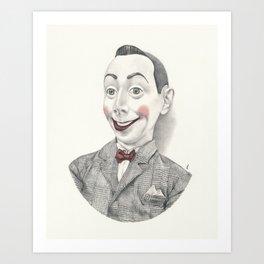 """""""Portrait of Pee-wee Herman"""" Art Print"""