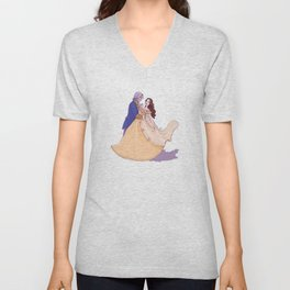 Rumbelle - Tale as Old as Time Unisex V-Neck