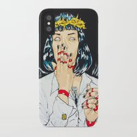 mia wallace iPhone & iPod Cases featuring Mother Mia (Mia Wallace) by Rob Regis | #ARTLORDXXX
