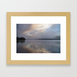 Phantasmagorical Fog on the Lake Framed Art Print