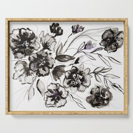 Ink Flowers Serving Tray