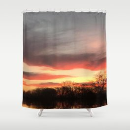 """Sunrise Lakefront"" Shower Curtain"