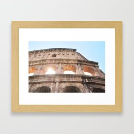 117. Coliseum and light, Rome Framed Art Print