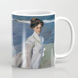Joaquin Sorolla Y Bastida - Strolling along the seashore Coffee Mug