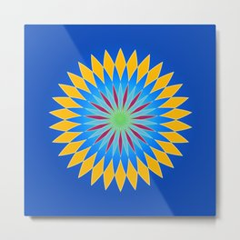 Colorful abstract star on dark blue background Metal Print