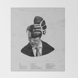 Hannibal Lecter Phrenology Throw Blanket