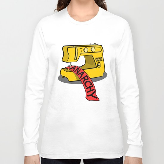 Anarchy Sewing Machine Long Sleeve T-shirt