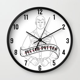 Pitter Patter Let's Get at 'er Wall Clock