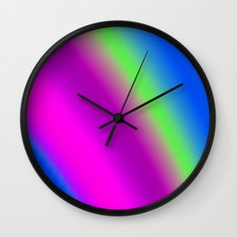 rising violet falling green Wall Clock