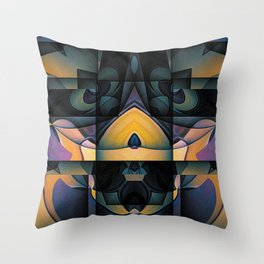 The Monster Under The Bed Throw Pillow