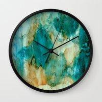 waterfall Wall Clocks featuring Waterfall by Rosie Brown