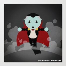 Dracula in 81 dots Canvas Print