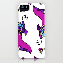 Mermaid Tails Pattern / Multicolor Scales iPhone Case