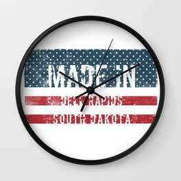 Made in Dell Rapids, South Dakota Wall Clock