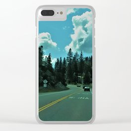 Road to the Forest Clear iPhone Case