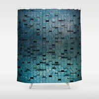 grid Shower Curtains featuring Grid by Tayler Smith