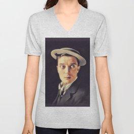 Buster Keaton, Vintage Actor Unisex V-Neck