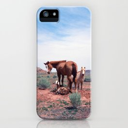 Horses. Goat. Animals. Desert. Utah. 35mm Film. iPhone Case