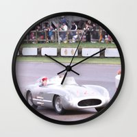 mercedes Wall Clocks featuring Mercedes Benz Silberpfeil with Stirling Moss by Premium