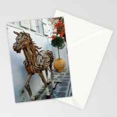 Wood horse Stationery Cards