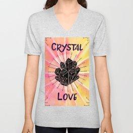 Crystal Love - Boho Crystal Watercolor Unisex V-Neck