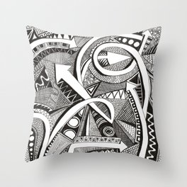 flechas Throw Pillow