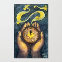 Compass of the Stars Canvas Print