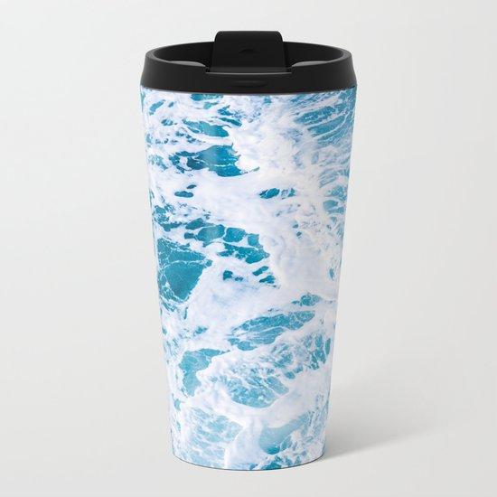 Perfect Ocean Sea Waves Metal Travel Mug