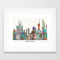 melbourne Framed Art Prints featuring Melbourne by bri.buckley