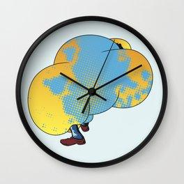 Puff 3 Wall Clock