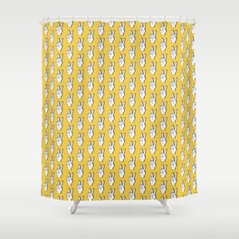Peace Sign yellow Shower Curtain