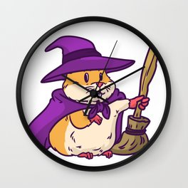 witch hamster Wall Clock