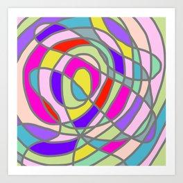 Stain Glass Abstract Meditation Tango Art Print
