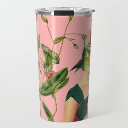 fish soul mate pink #collage Travel Mug