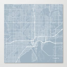Tampa Map, USA - Slate Canvas Print
