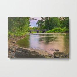 Little Lehigh Creek And The Robin Hood Bridge Metal Print
