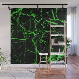 Green Marble - Green, textured, abstract pattern Wall Mural